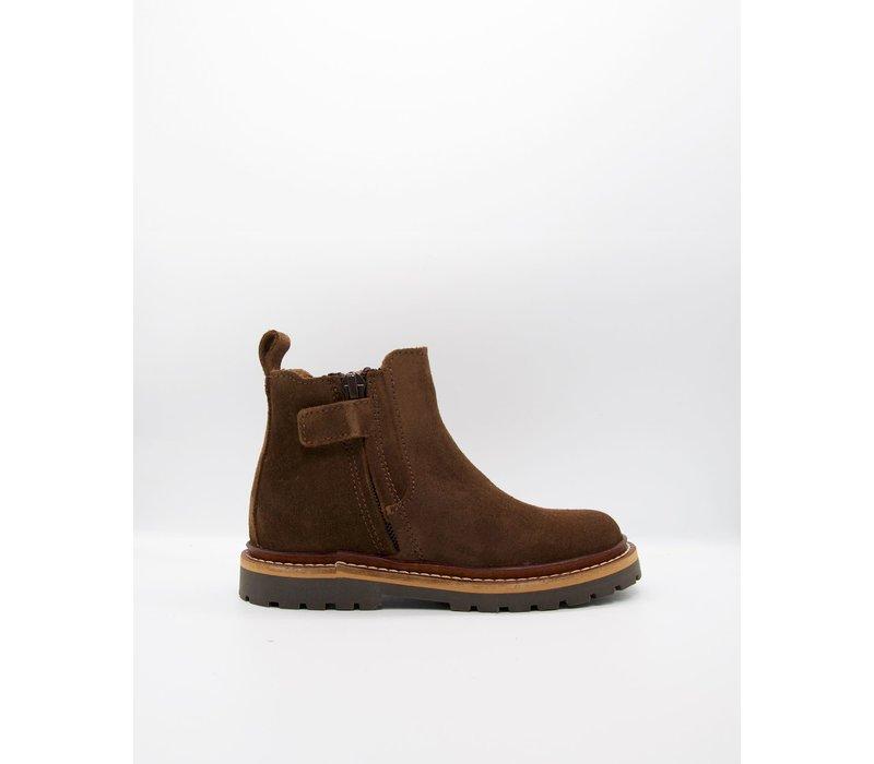 du Loua Suede Chelsea Boots Chocolat Louis