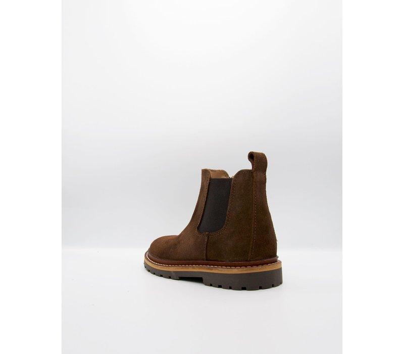 du Loua Suede Chelsea Boots Chocolat