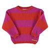PIUPIUCHICK Piupiuchick Knitted Sweater Pink & Orange Stripes