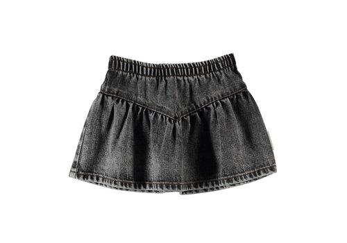 PIUPIUCHICK Copy of Piupiuchick Short Skirt v shape Camel Checkered