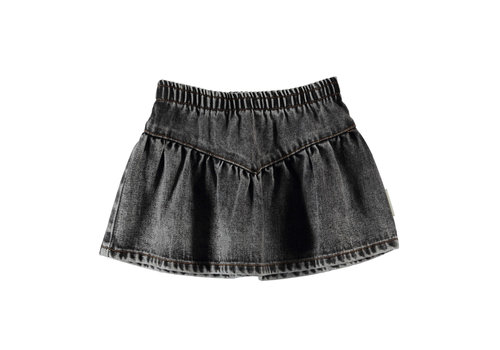 PIUPIUCHICK Piupiuchick Short Skirt Washed Black Denim