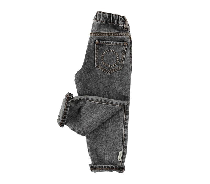 Piupiuchick Unisex Washed Black Denim Trousers