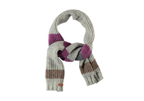 PIUPIUCHICK PIUPIUCHICK Knitted scarf | light grey & stripes