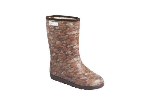 EN FANT Enfant Thermo Boots Print Chestnut