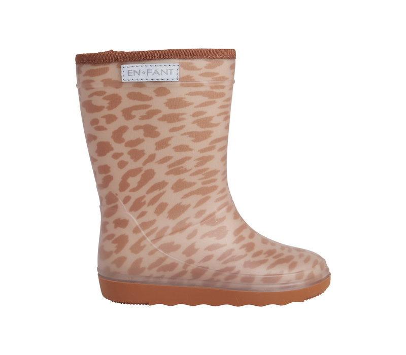 Enfant Thermo Boots Print Leather Brown