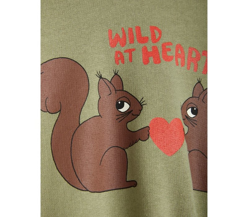Mini Rodini Wild at heart Sweatshirt Green