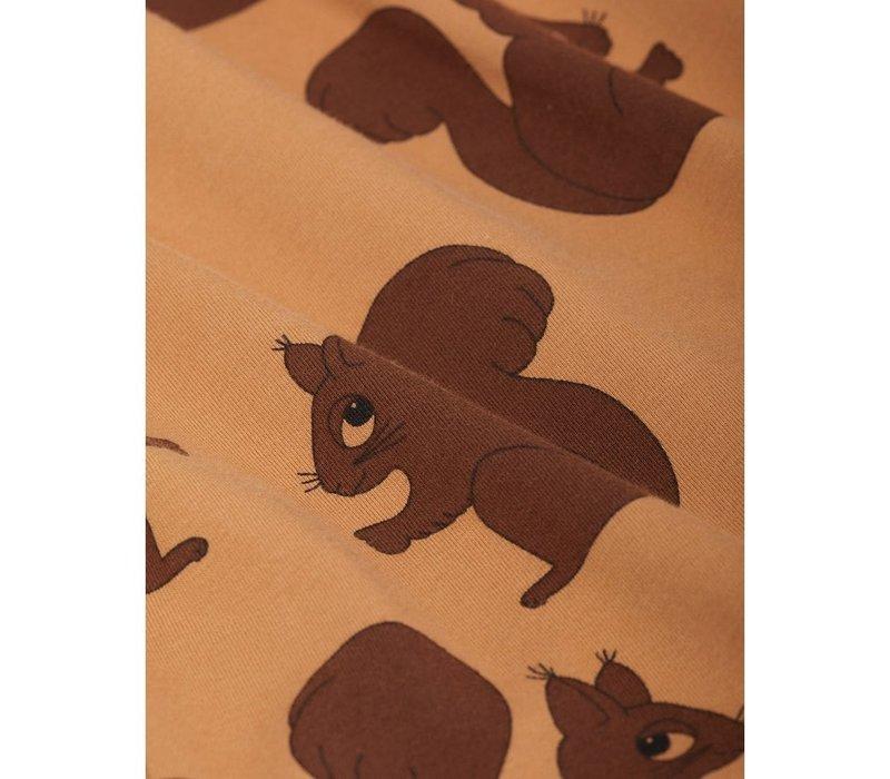 Mini Rodini Squirrel AOP Raglan LS tee Brown
