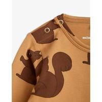 Mini Rodini Squirrels Aop LS Body Brown