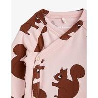 Mini Rodini Squirrels Aop Wrap Body Pink