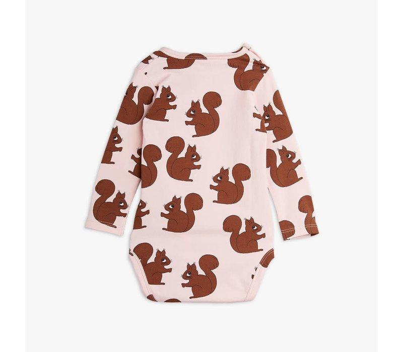 Mini Rodini Squirrels Aop LS Body Pink