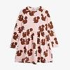 Mini Rodini Mini Rodini Squirrel AOP LS Dress Pink