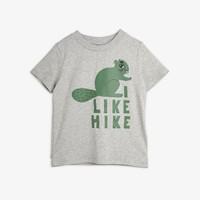 Mini Rodini Beaver Hike Tee Grey