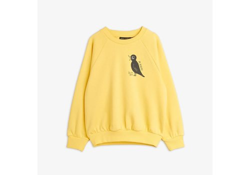 Mini Rodini Mini Rodini Blackbird Sweatshirt Yellow