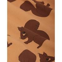Mini Rodini Squirrel AOP LS Dress Brown
