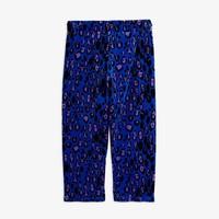 Mini Rodini Leopard Velour Trousers Blue