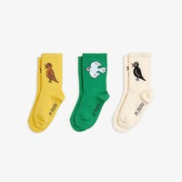 Mini Rodini Birdswatching Socks 3 - pack