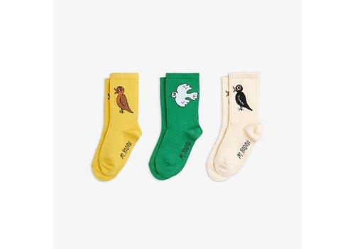 Mini Rodini Mini Rodini Birdswatching Socks 3 - pack