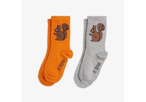 Mini Rodini Mini Rodini Squirrel Socks 2 - pack