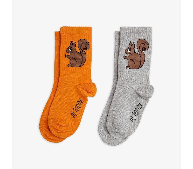 Mini Rodini Squirrel Socks 2 - pack