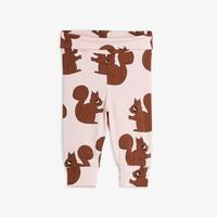 Mini Rodini Squirrel Aop nb Legging Pink