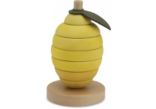 Konges Slojd Konges Slojd Stacking Fruits Lemon