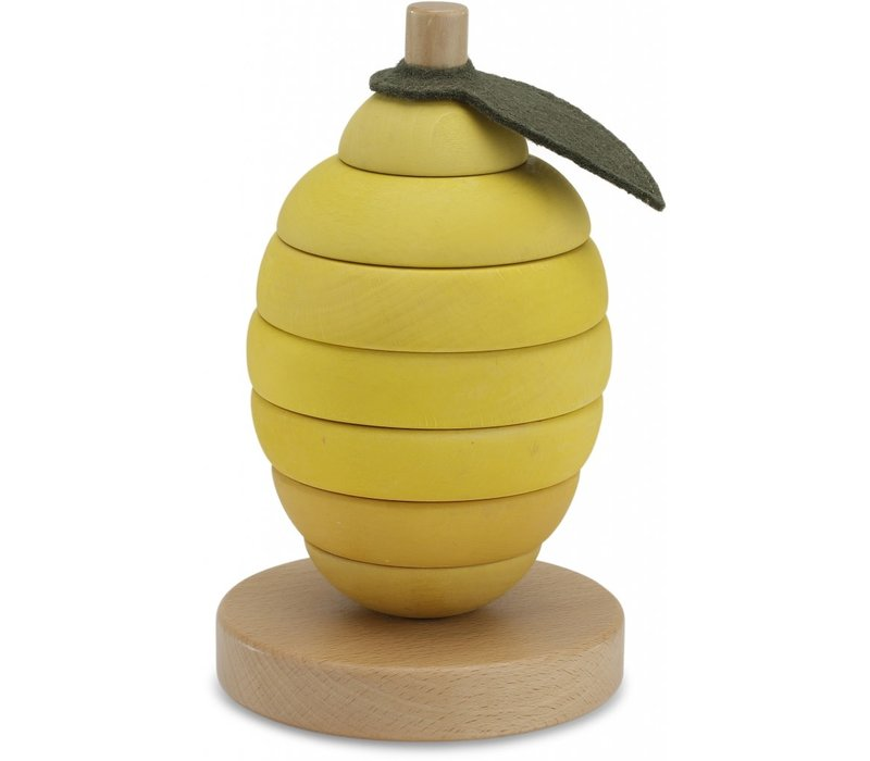 Konges Slojd Stacking Fruits Lemon