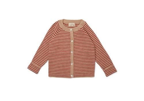 Konges Slojd Konges Slojd Meo Cardigan Red With Stripe