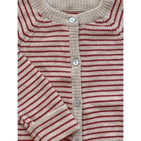 Konges Slojd Meo Cardigan Red With Stripe