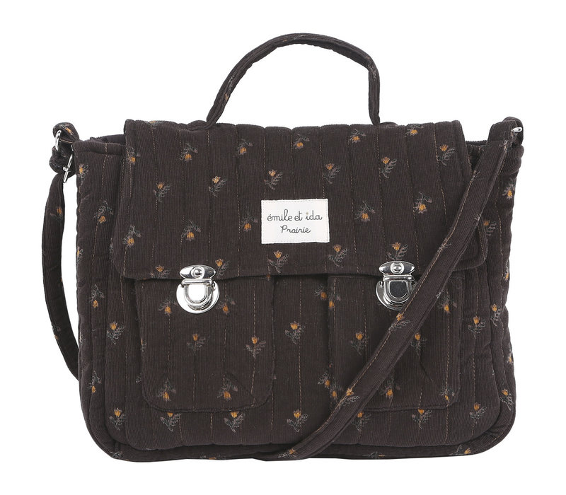 Emile et Ida Daffodil Velvet Strapped Bag