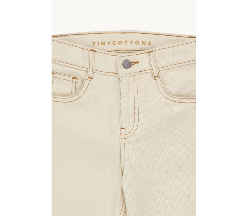 TINYCOTTONS SOLID FLARED PANT light cream