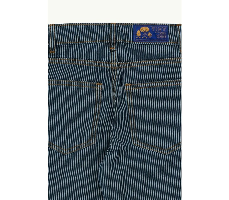 TINYCOTTONS STRIPES DENIM BAGGY PANT stripes denim