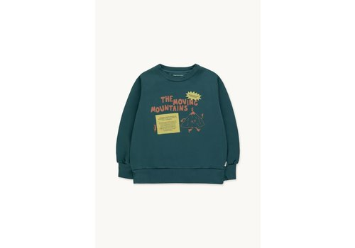 TINYCOTTONS TINYCOTTONS MOVING MOUNTAINS SECRET SWEATSHIRT stormy blue/bamboo yellow