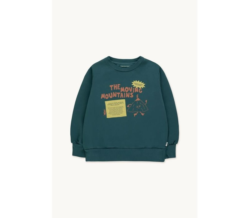 TINYCOTTONS MOVING MOUNTAINS SECRET SWEATSHIRT stormy blue/bamboo yellow