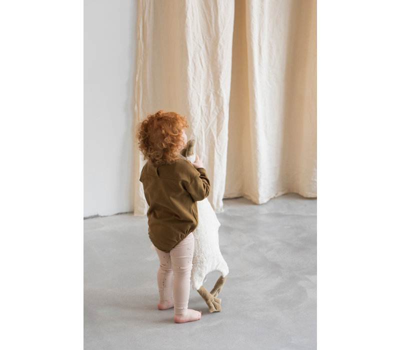 Phil and Phae Sweat bubble onesie l/s Bronze Olive