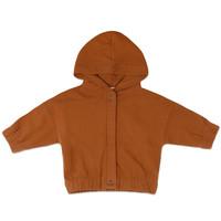 Phil&Phae Sweat jacket with hood Gingerbread