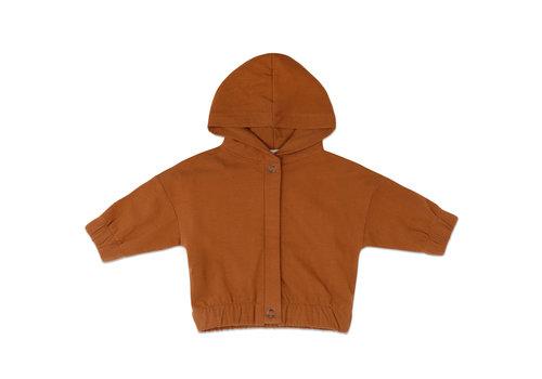 Phil&Phae Phil&Phae Sweat jacket with hood Gingerbread