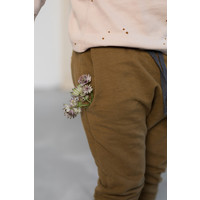 Phil and Phae Drop-crotch sweat pants Bronze Olive