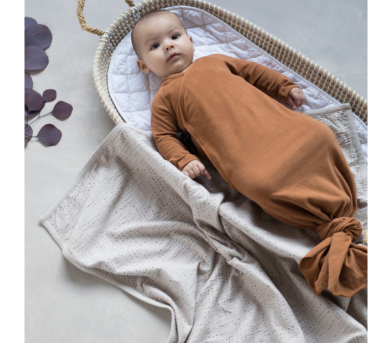 Phil&Phae Knotted baby gown Balsam blue