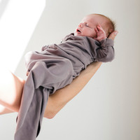 Phil&Phae Knotted baby gown heather