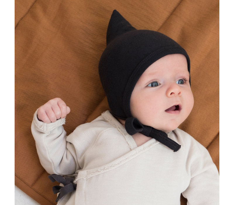 Phil&Phae Pointed Baby bonnet Carchoal