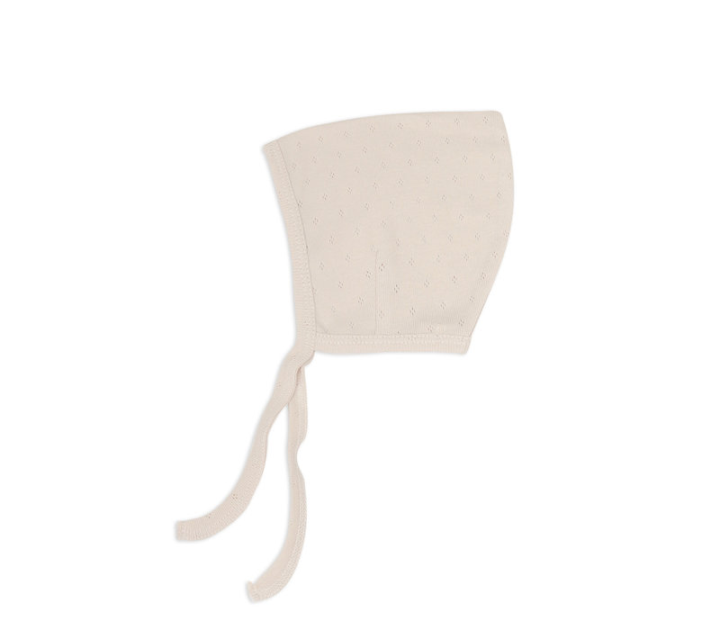 Phil&Phae Pointed Baby bonnet Oatmeal