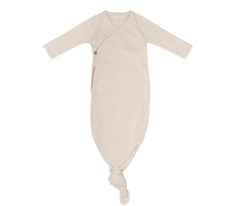 Phil&Phae Knotted baby gown pointelle Oatmeal