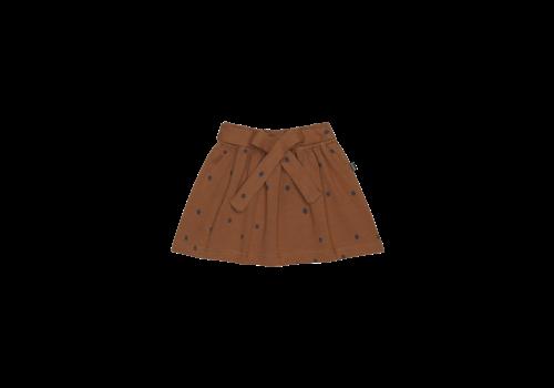 House of Jamie House of Jamie Mini Bow Skirt Ginger Bread Dots