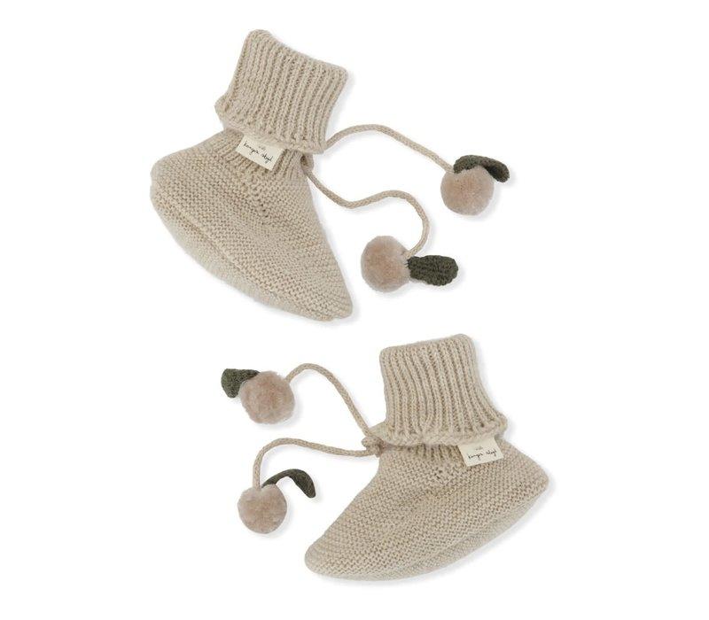 Konges Slojd Miro Knit Boots White Cream Melange