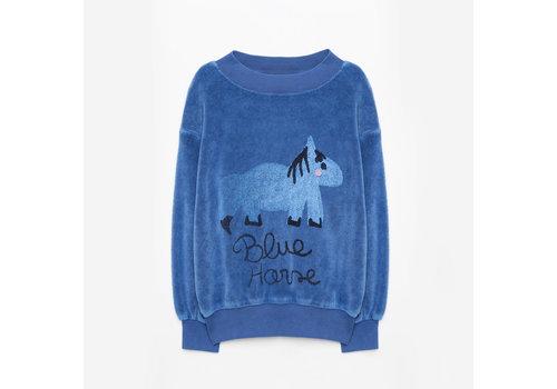 Weekend House Kids Weekend House Kids Blue Horse Soft Sweatshirt