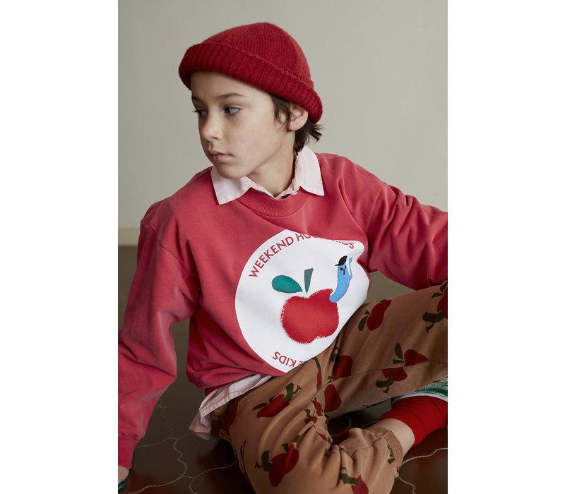 Weekend House Kids Red Apple Sweatshirt
