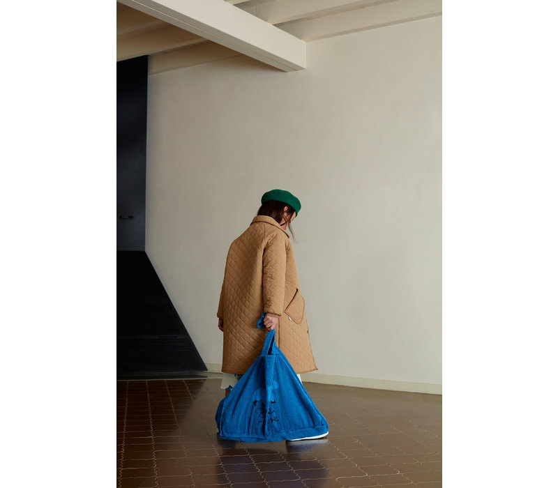 Weekend House Kids Blue Horse Corduroy Bag