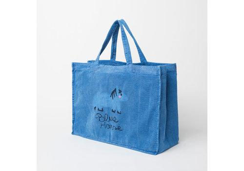 Weekend House Kids Weekend House Kids Blue Horse Corduroy Bag