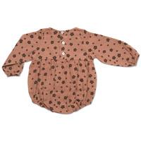 Petit Blush TEDDIE PLAYSUIT   BROWN FLORAL AOP