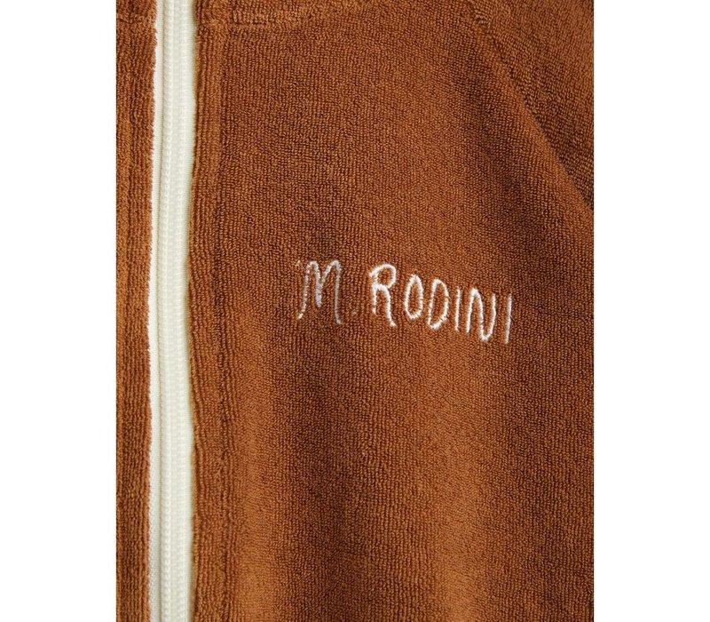 Mini Rodini Stripe Terry Jacket Brown